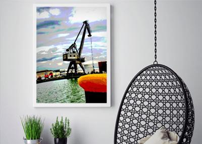 digitale Fotokunst, Hafen von Münster © Marie-Theres Kock
