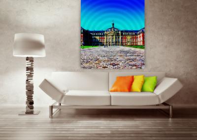 historisches Schloss, Fotokunst, quadratisch © Marie-Theres Kock