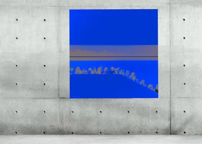 quadratische Fotokunst in blau © Marie-Theres Kock