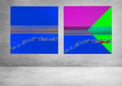 quadratische Fotokunst in bunt © Marie-Theres Kock