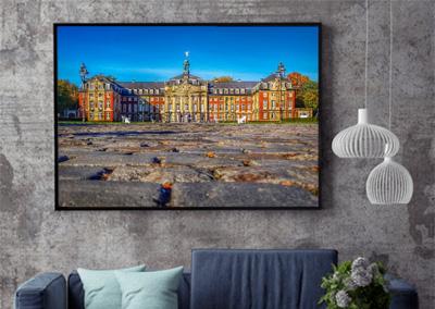 historisches Schloss, Fotobearbeitung, Perspektive © Marie-Theres Kock